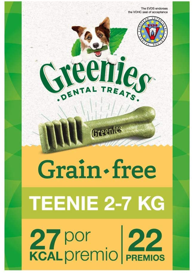 Greenies Snack dental Grain Free Teenie para perros toy, bolsa de 170 g (Pack de 6)