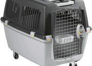 Stefanplast 97450 Gulliver 5 Iata - Transportador para Perros, Gris Oscuro:Gris Claro, 61 x 60 x 81 cm