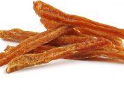 friGERA Snack Perro Tiras Finas de Pollo Deshidratadas - 500 gr Snack de pollo puro deshidratado Altamente digerible debido a que no contiene subproductos El pollo enrollado proporciona una alta palatabilidad Snack natural