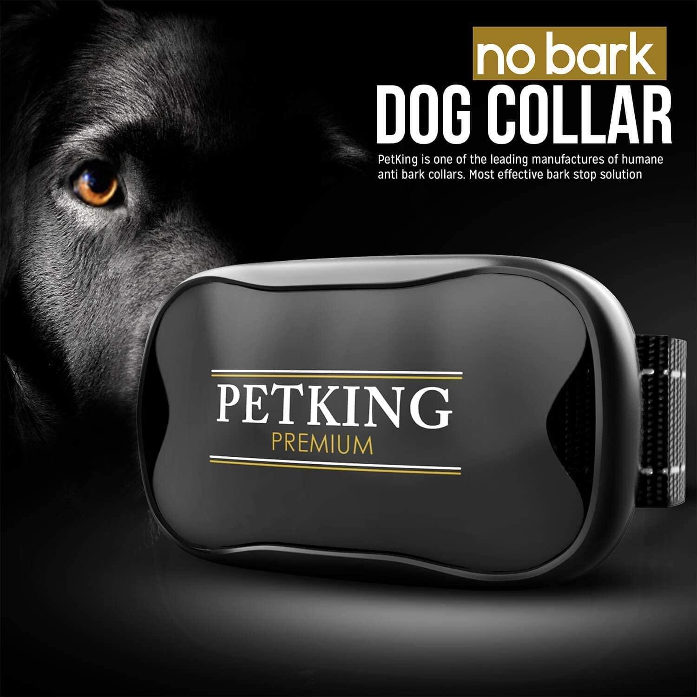 PetKing Premium Collar Antiladridos para Perros Pequeños y Grandes